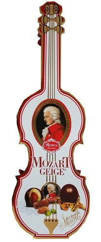 Reber Mozart Kugeln Geige 140 g / 4.9 oz Special Gift Box Chocolate Pieces